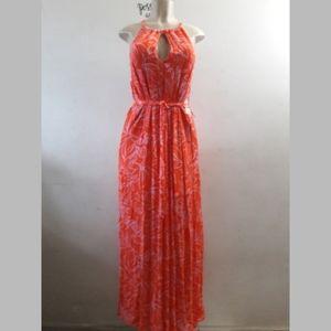 Forever 21 Halter keyhole floral maxi dress xs